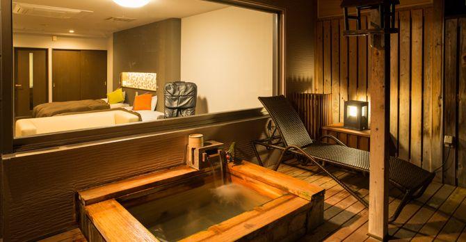 露天風呂付き客室イメージ|小樽朝里クラッセホテル